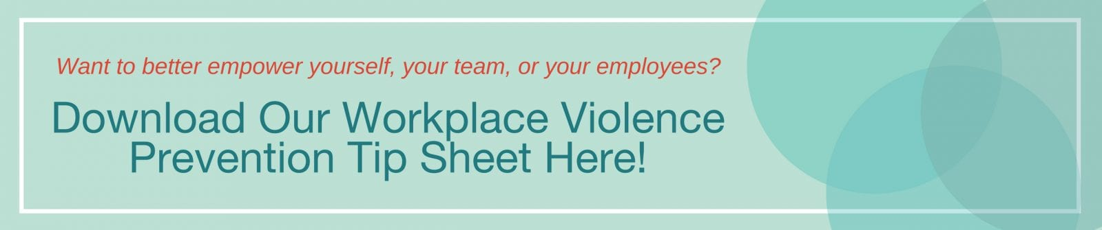 Workplace Violence Tip Sheet