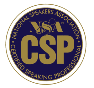 nsa certified speaking professional badge