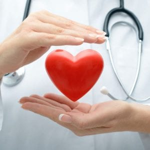nurse or doctor with heart